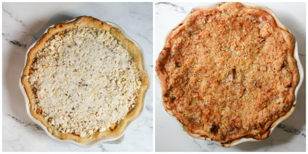nectarine pie unbaked and then baked