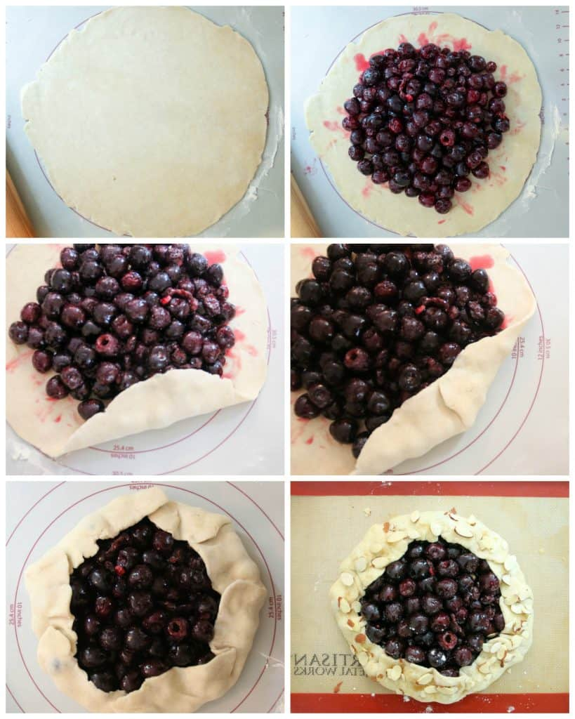 crostata being formed step by step photo collage