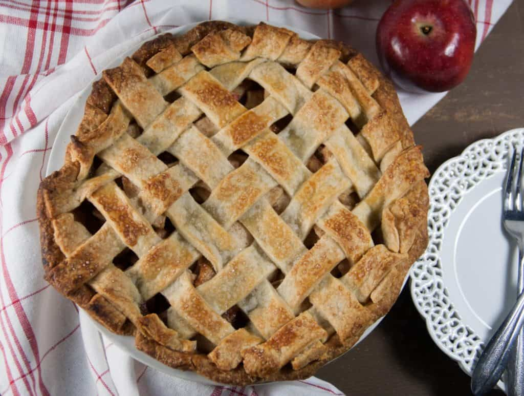 apple pie with a lattice crust