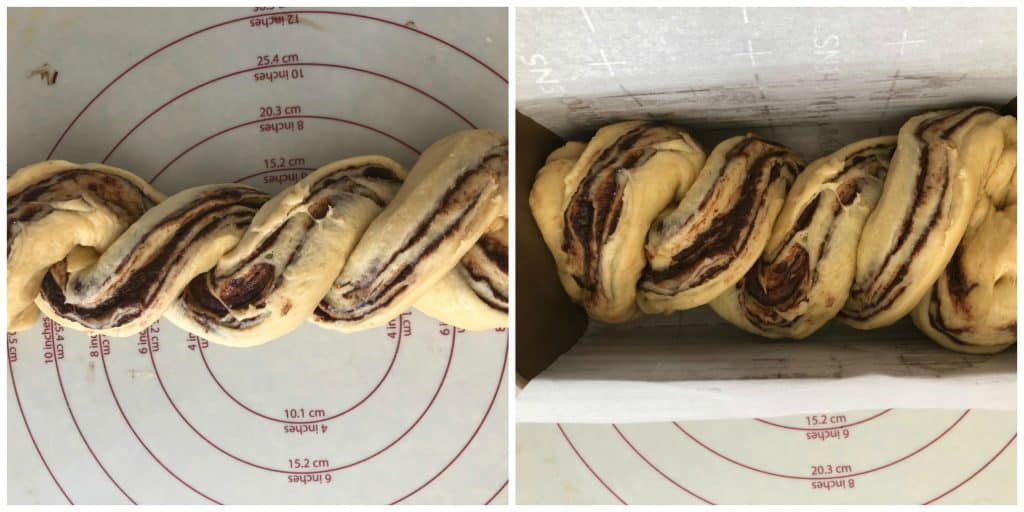 chocolate babka bread twisted