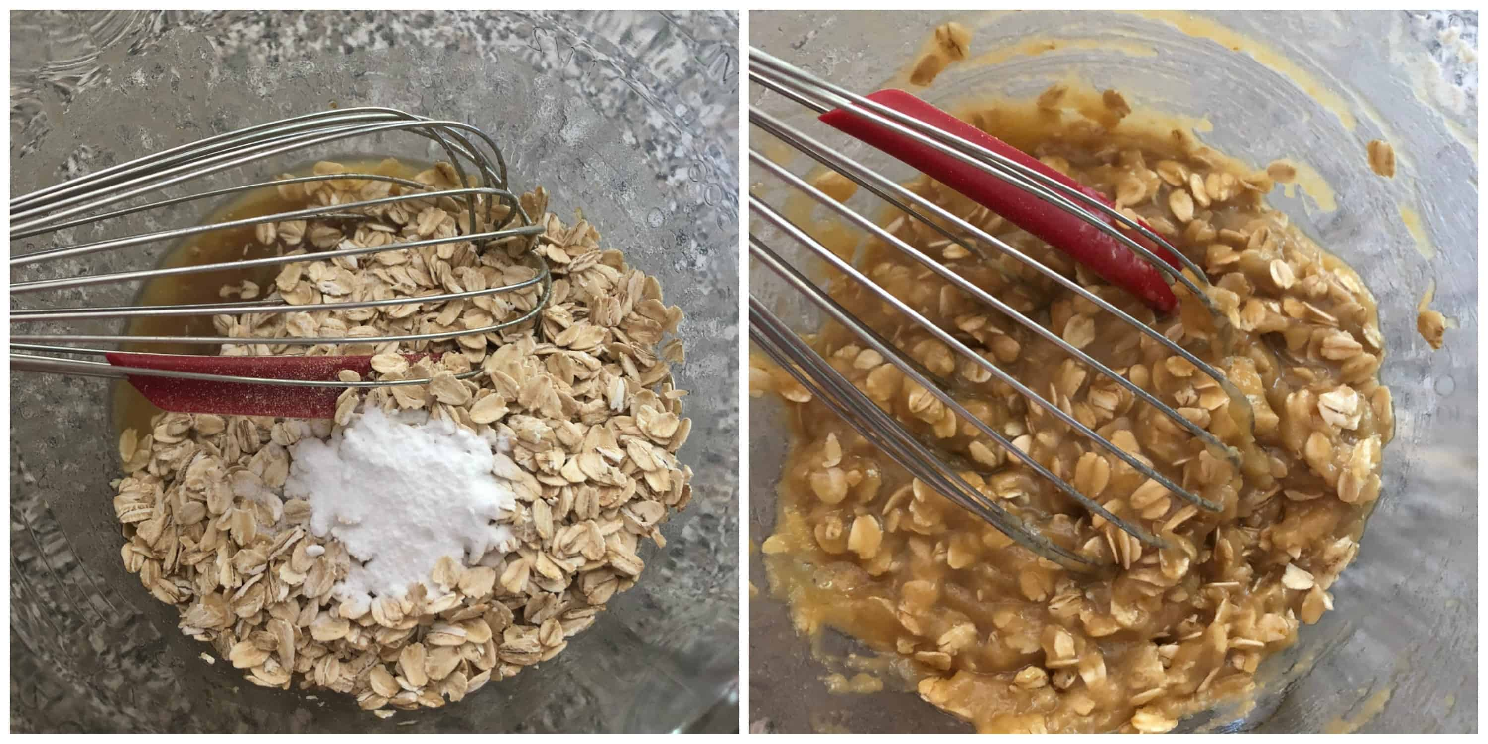 oatmeal mixture whisked together