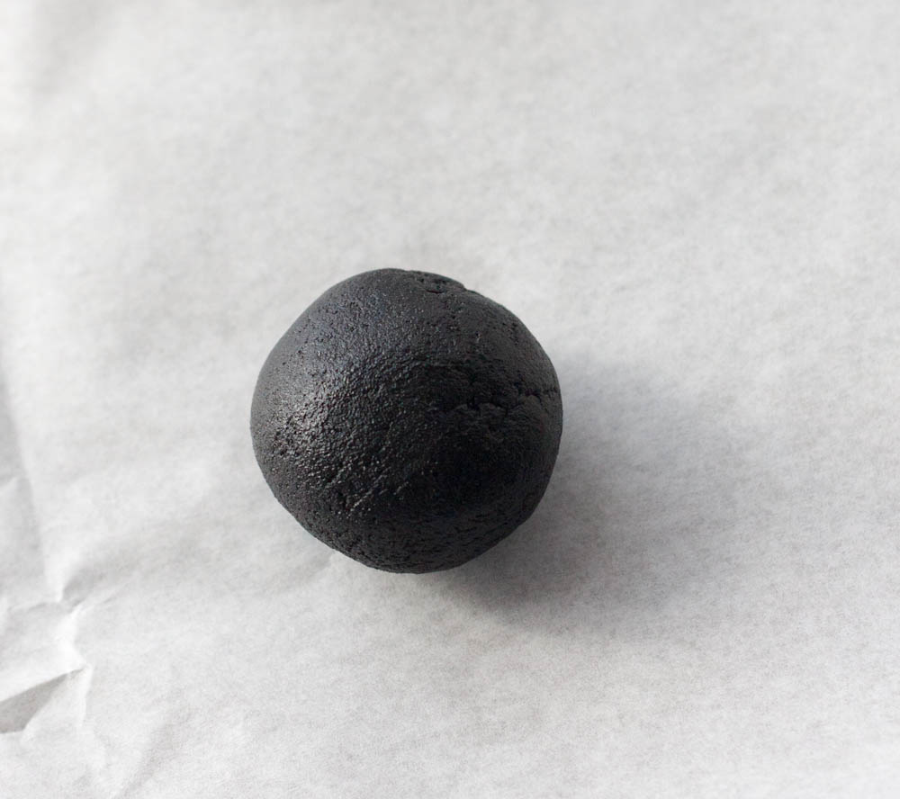 oreo cookie dough rolled into a ball