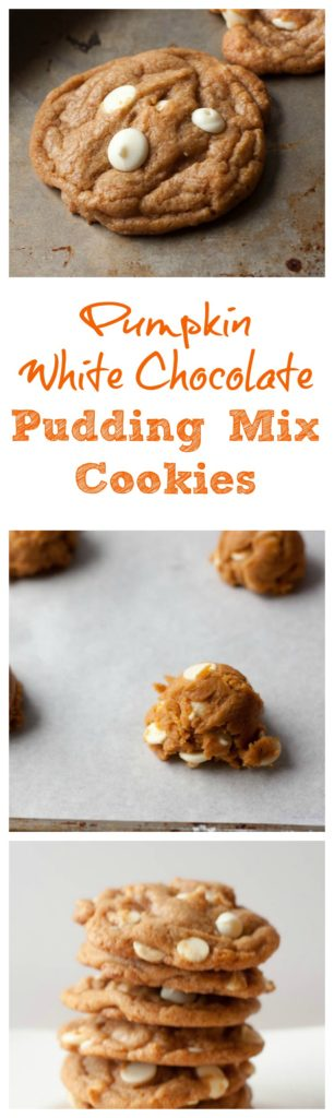 Pumpkin White Chocolate Pudding Mix Cookies