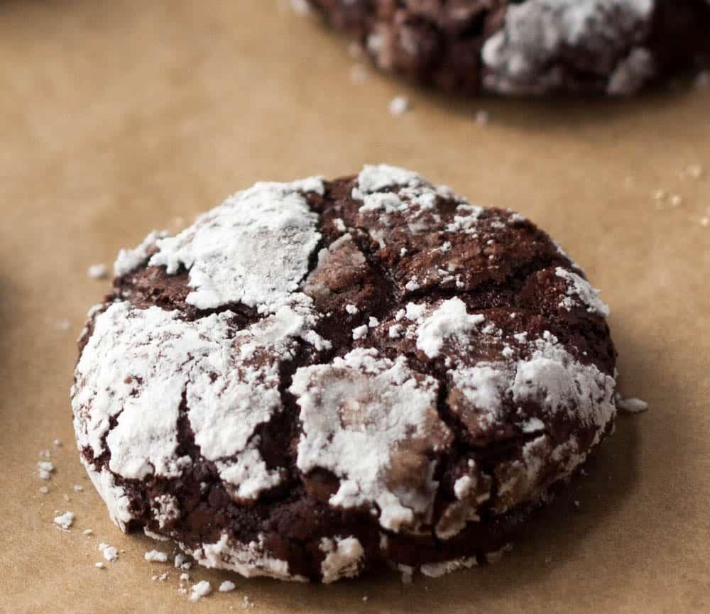 one flourless fudge cookie