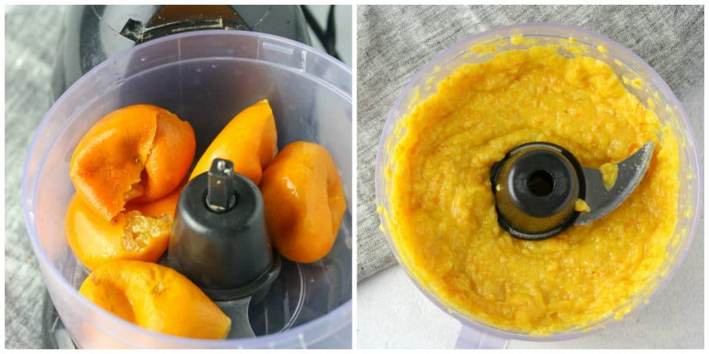 clementines pureed in a food processor