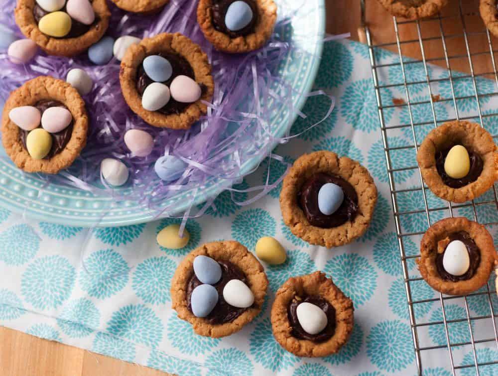 cadbury mini egg cookie cups