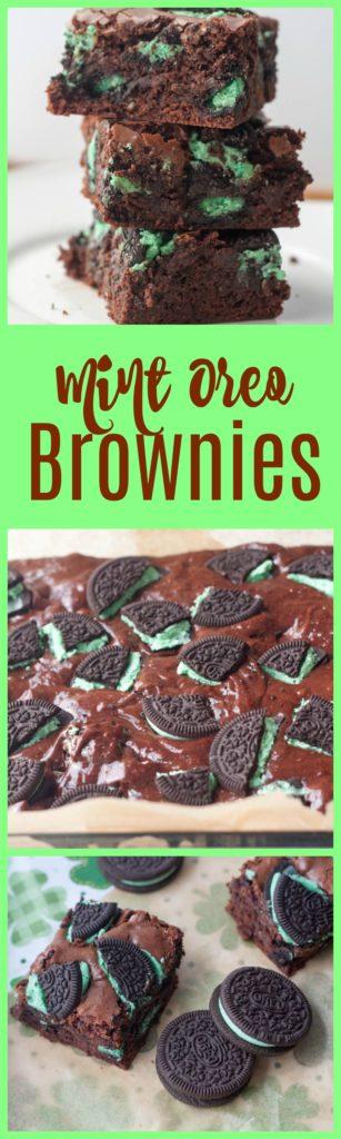 Mint Oreo brownies