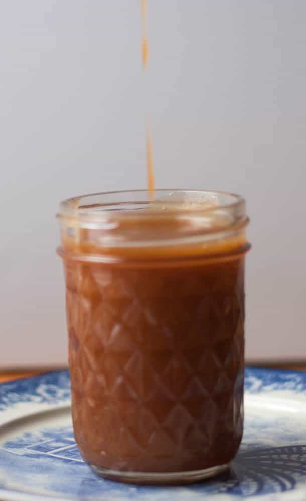 jar of caramel sauce