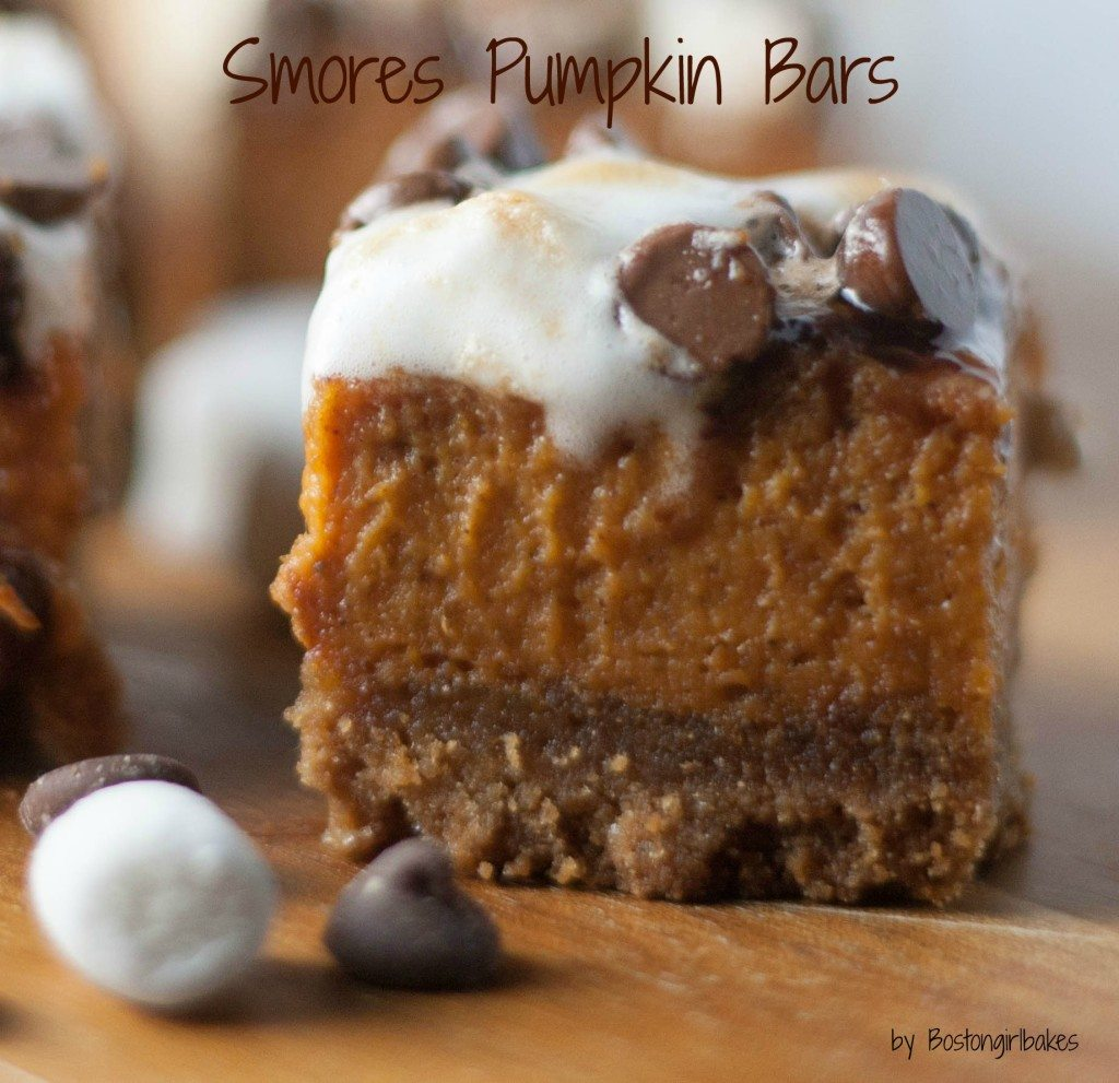 pumpkin bars with words