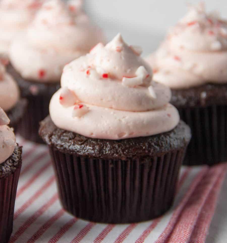 a Candy Cane Cupcake