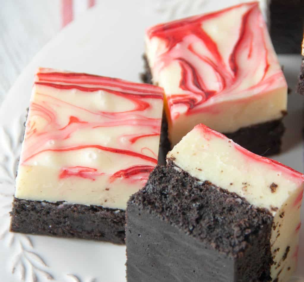 white chocolate peppermint fudge brownies