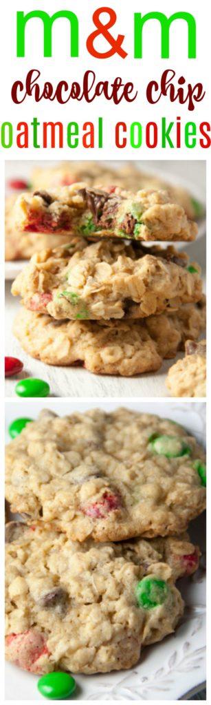 M&M oatmeal cookies