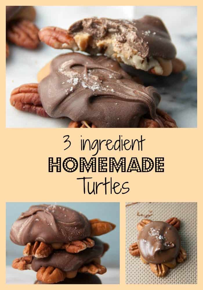 3 ingredient homemade turtles
