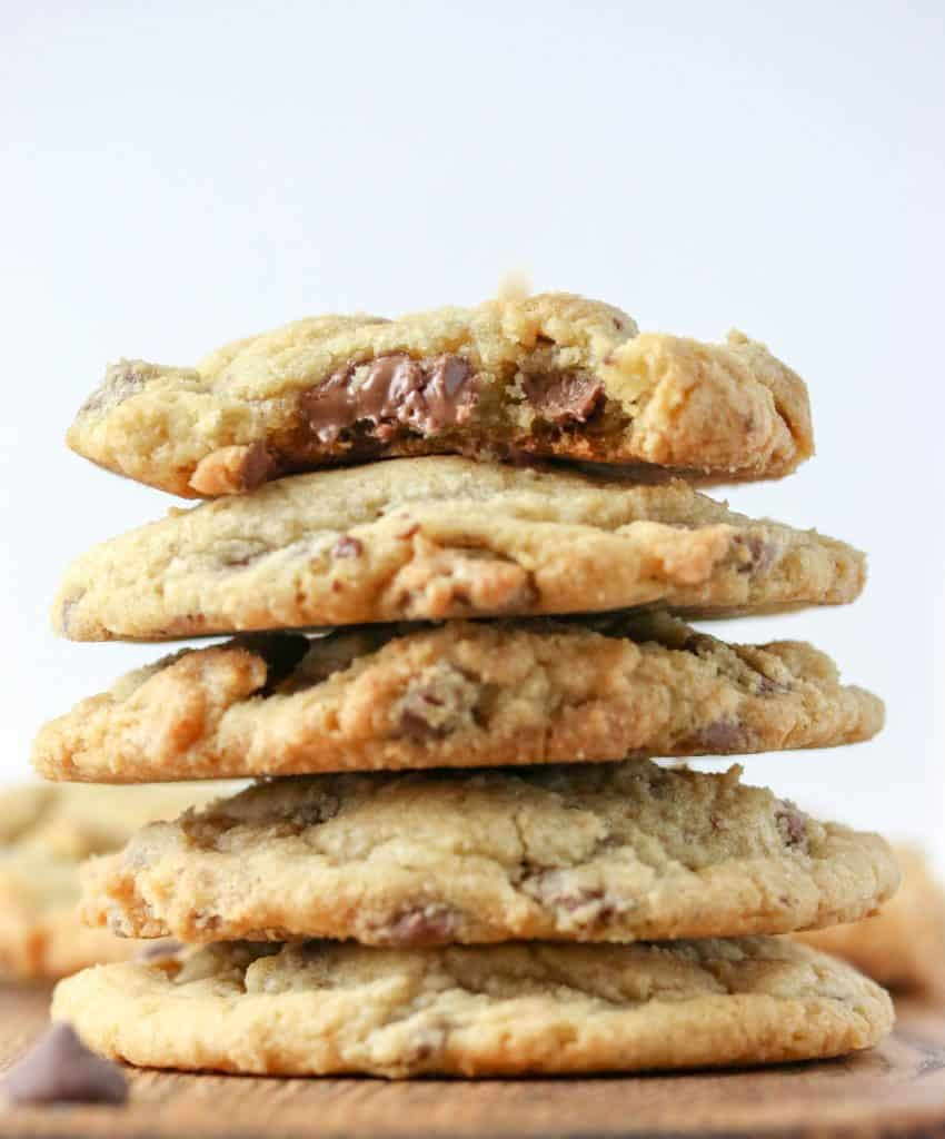 stack of new york times chocolate chip cookies