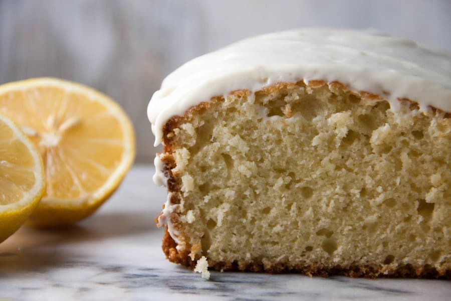 lemon bread cut in half