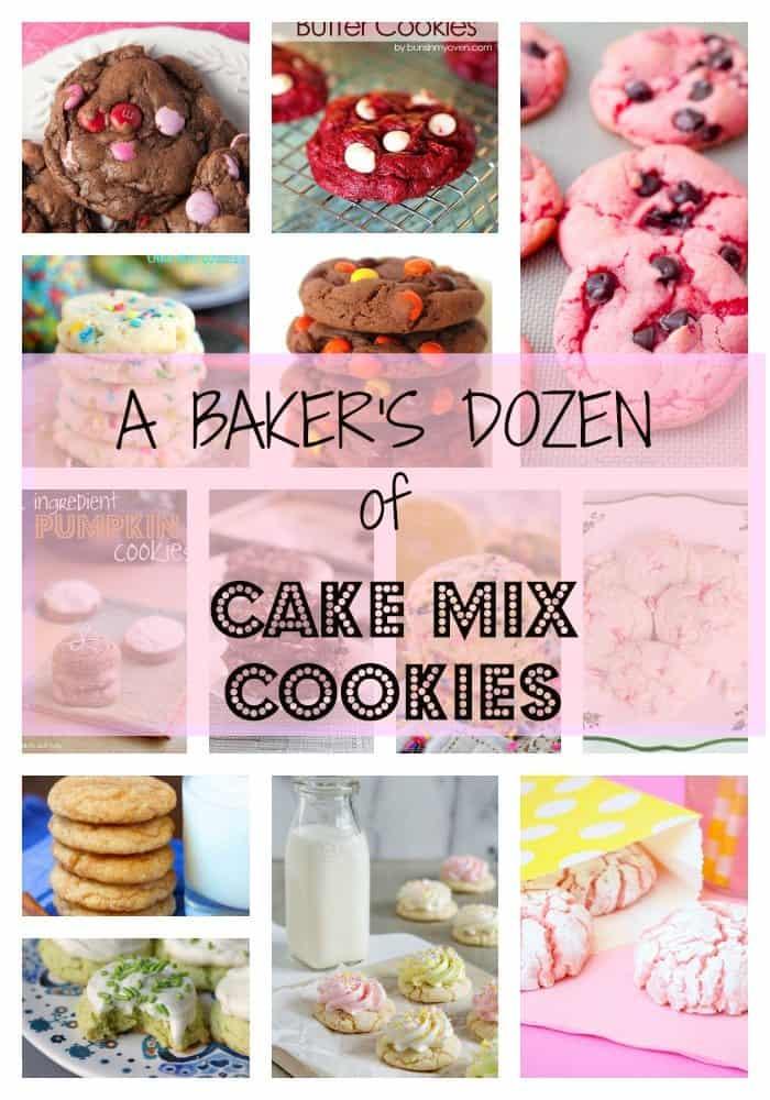 baker's dozen of cake mix cookies
