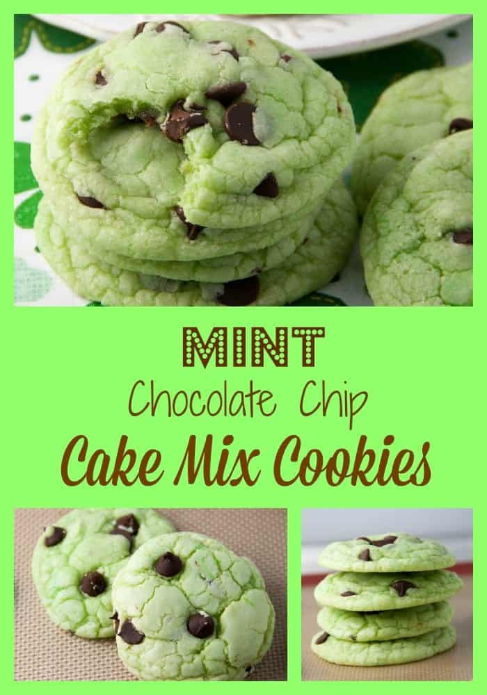 mint cake mix cookies