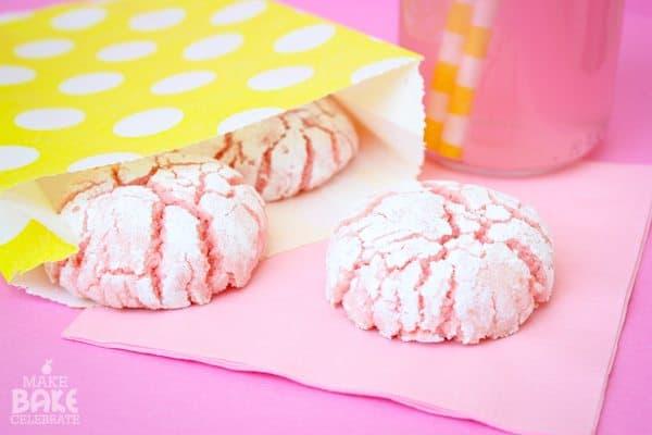 pink lemonade crink cookies