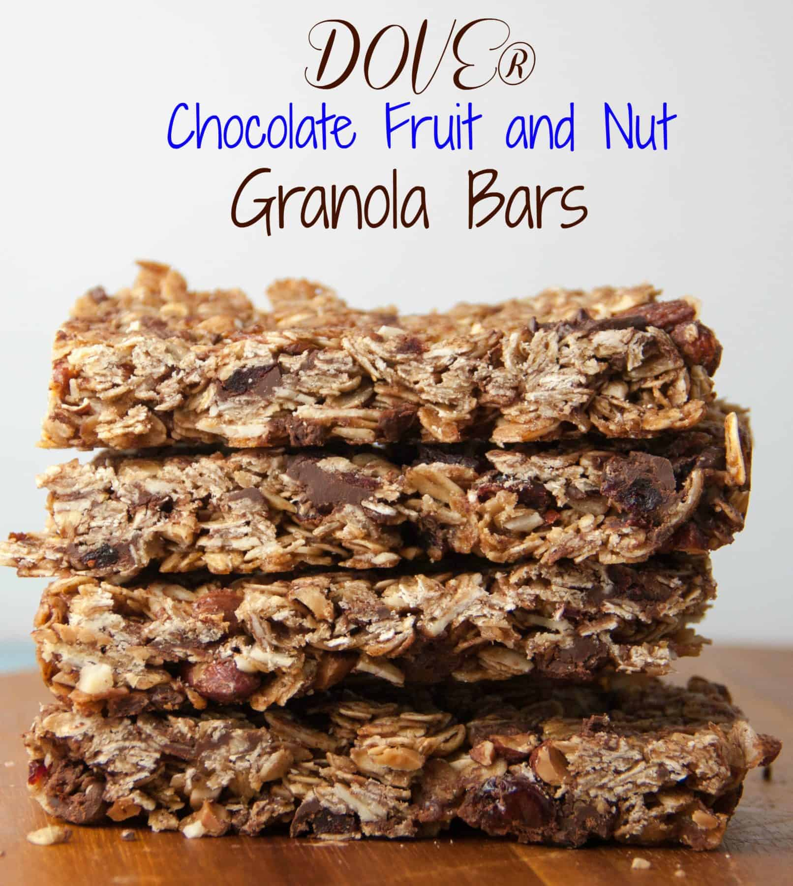 DOVE® Chocolate Fruit and Nut Granola Bars