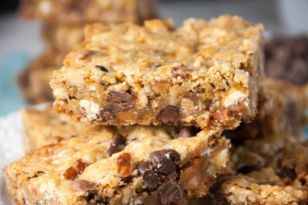 blondie bars stacked on top of each other