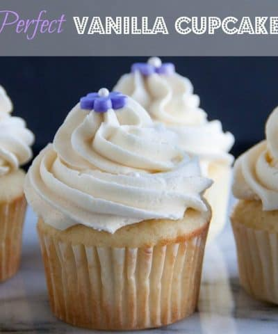 Perfect Vanilla Cupcakes every time! And topped off with the fluffiest vanilla buttercream frosting!