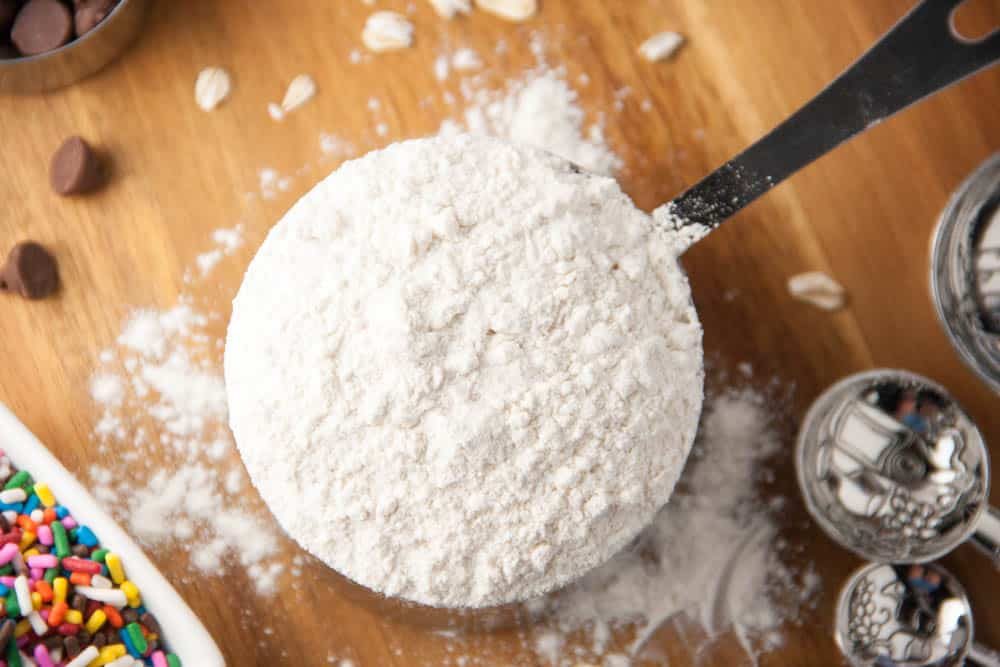 a cup of flour