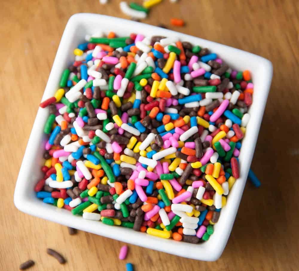 a dish of sprinkles