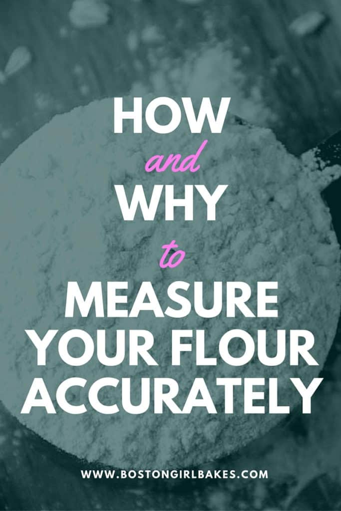 how and why to measure your flour accurately