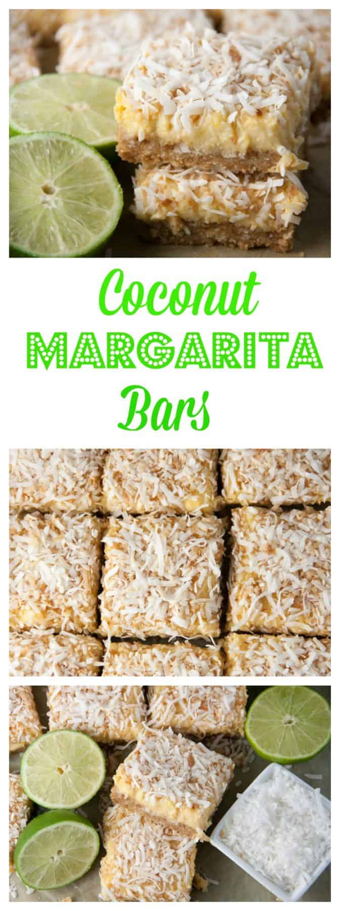 Perfect Cinco de Mayo treat! Coconut shortbread crust, tequila lime filling, and spirnkled with toasted coconut!