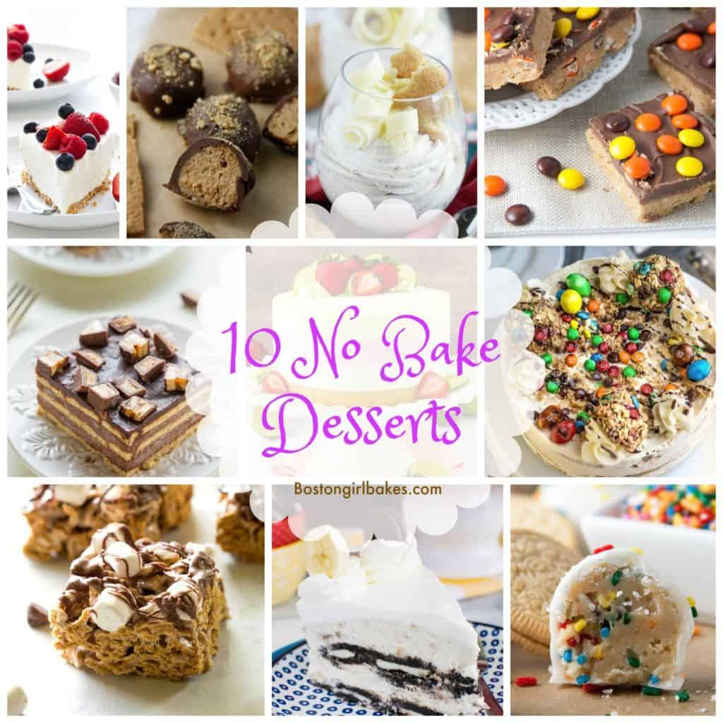 no bake desserts collage