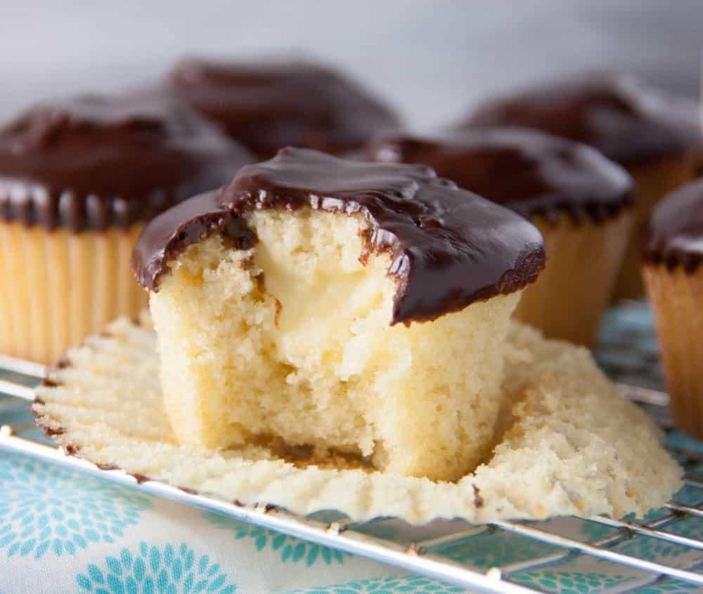Boston Cream Pie Cupcakes Boston Girl Bakes