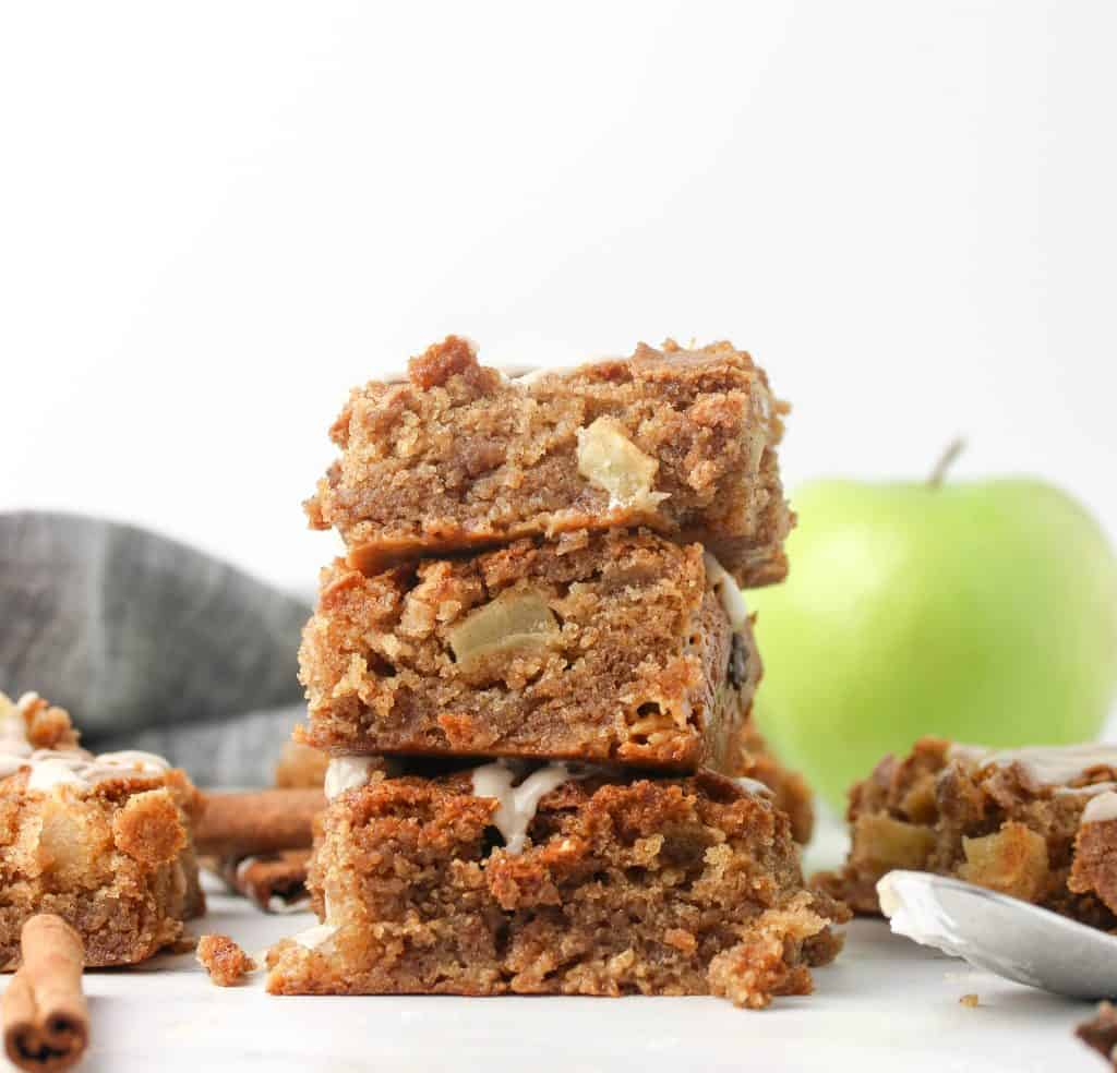three apple bars stacked on top of each other