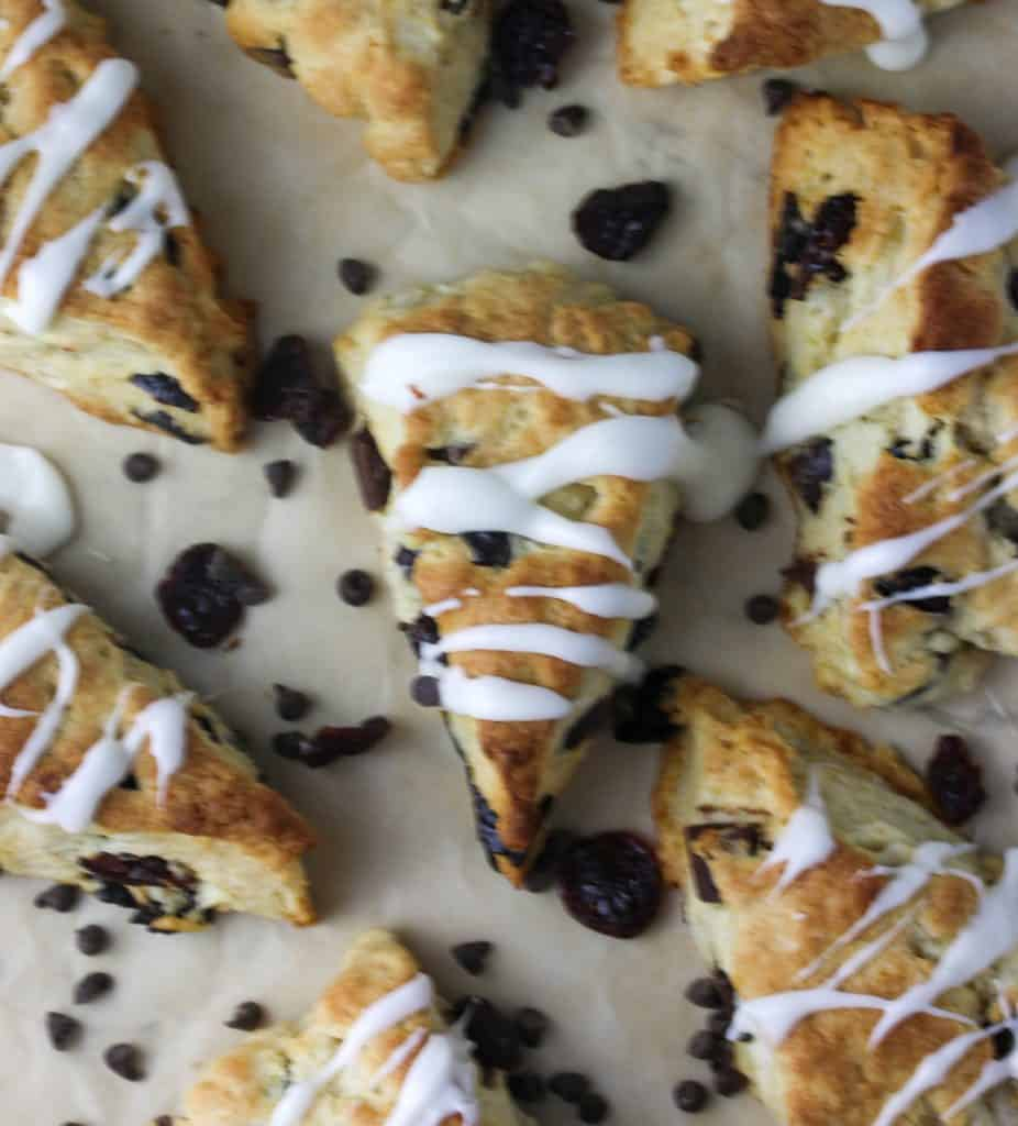 scones with icing