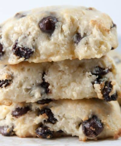 Dark Chocolate Cherry Almond Scones