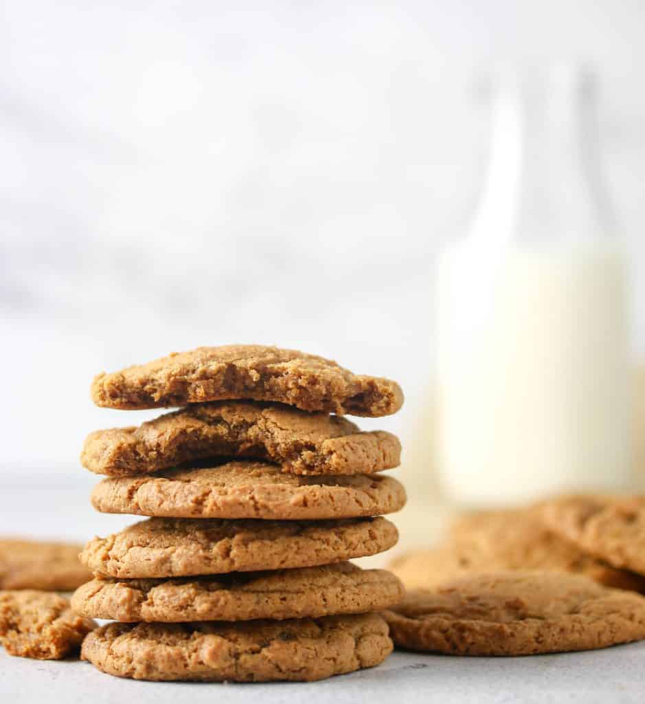 stack of ginger molasses cookies