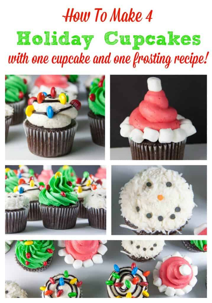 how to make 4 holiday cupcakes