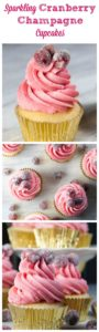 Sparkling Cranberry Champagne Cupcakes- perfect for New Year's Eve!