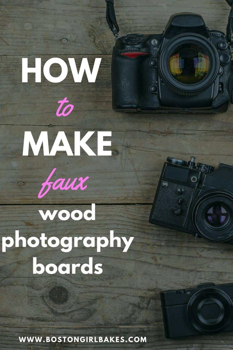 How To Make Wood Food Photography Backdrops