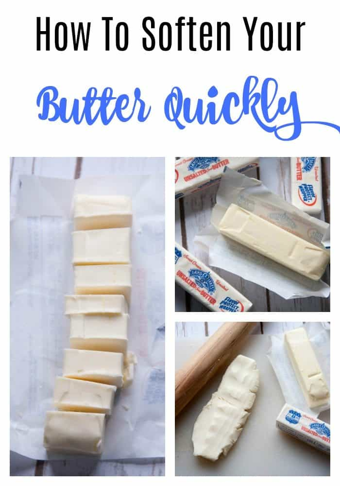 how to soften your butter quickly