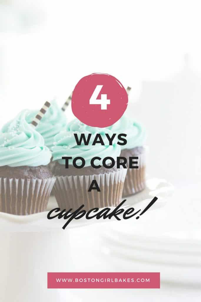 4 ways to core a cupcake
