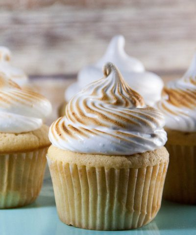 Peanut Butter Cupcakes (with marshmallow frosting)