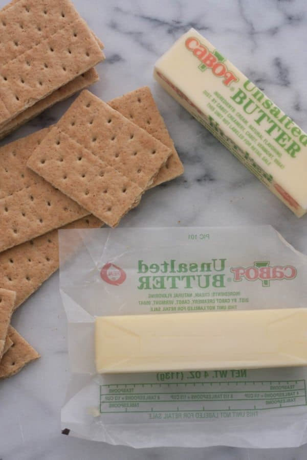 graham crackers and two sticks of butter