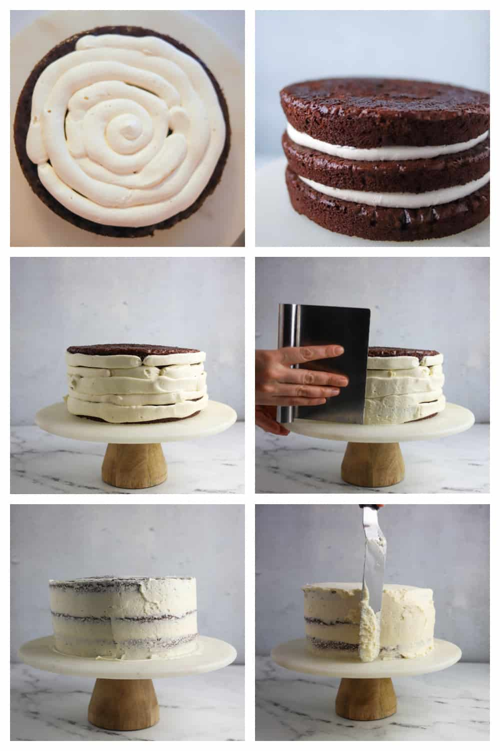 step by step photos of frosting Guinness cake