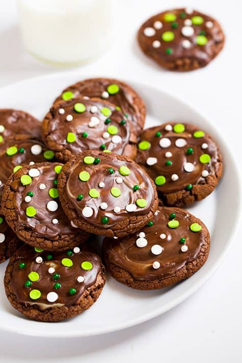 andes mint cookies st. patricks day desserts