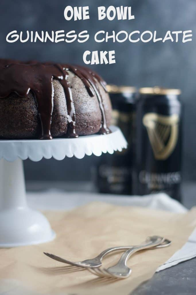 One Bowl Guinness Chocolate Cake St. Patrick's Day Desserts
