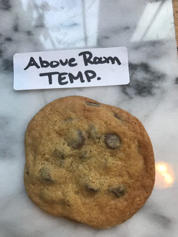 a cookie made with above room temperature butter