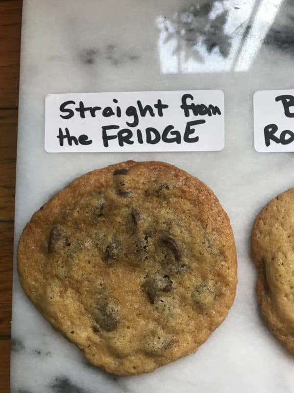 a cookie made with butter straight from the fridge