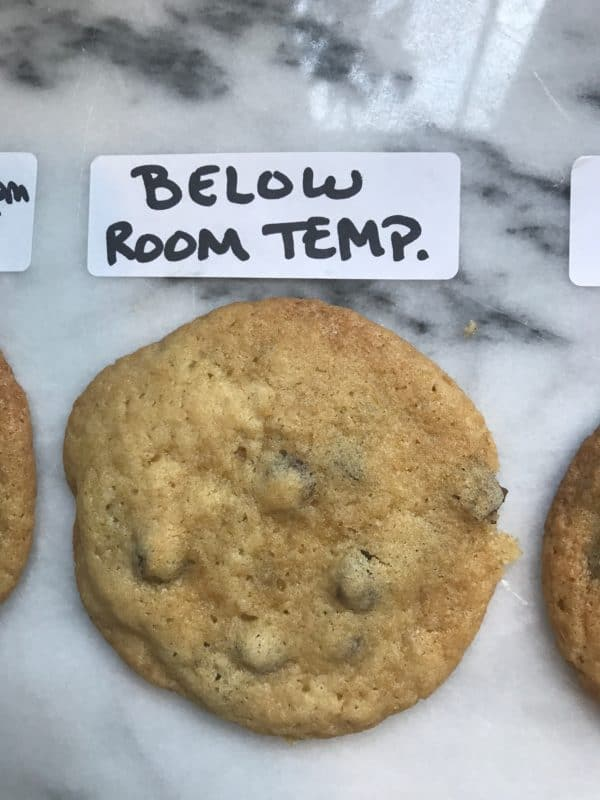 cookie made with butter below room temperature