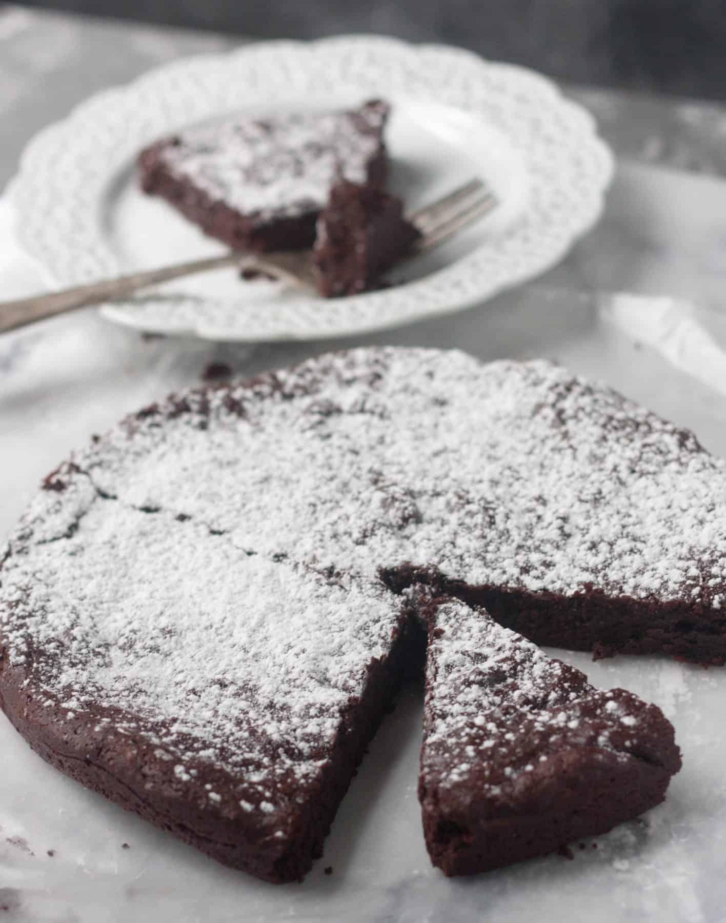 6-Ingredient Flourless Chocolate Espresso Cake
