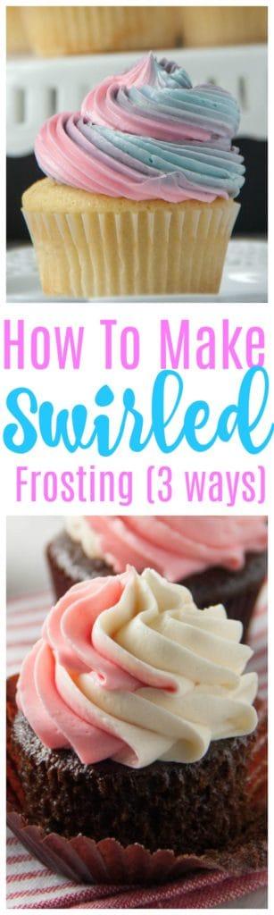 cupcake swirl icing (3 ways)